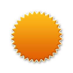 Burst Badge Orange